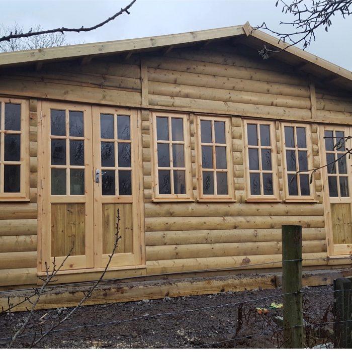 Log Garden Room